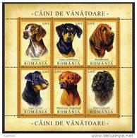 ROMANIA 2005 Hunting Dogs Block  MNH / **.  Michel Block 361 - Blocks & Sheetlets