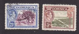 Dominica, Scott #101-102, Used, Scenes Of Dominica, Issued 1938 - Dominica (...-1978)