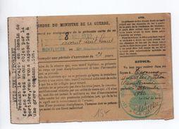 1932 - ORDRE D'APPEL SOUS LES DRAPEAUX Avec CACHET Du 121° REGT D'INFANTERIE DE MONTLUCON (ALLIER) - Marcophilie (Lettres)