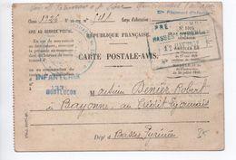 1932 - CARTE POSTALE AVIS FM Avec CACHET Du 121° REGT D'INFANTERIE DE MONTLUCON (ALLIER) - Marcophilie (Lettres)