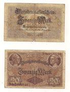 1 Gebrauchte Banknote Laut Abbildung 20 Mark 5.8.1914 - 20 Mark