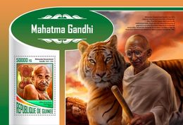 GUINEA 2017 - M. Gandhi, Tiger S/S. Official Issue - Roofkatten