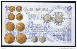 ROMANIA 2007 Currency Anniversary Block  MNH / **.  Michel Block 410 - 1948-.... Republics