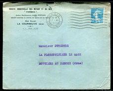 France - Enveloppe Commerciale De La Courneuve Pour Moutiers Au Perche En 1925 - Ref N 259 - Marcophilie (Lettres)