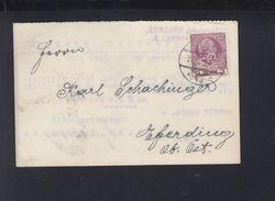 Österreich PK 1912 Perfin Gebr. Berghahn - Briefe U. Dokumente