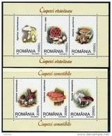 ROMANIA 2003 Edible Fungi Blocks MNH / **.  Michel Blocks 332-33 - Blocks & Sheetlets