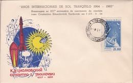 ANOS INTERNACIONAIS DE SOL TRANQUILO 1965. HOMENAGEM AO CONSTANTINO TSIOLKOVSKI.MEILLEUR COLLECTION VOZNESENSKI - BLEUP - Covers & Documents
