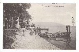 Sur Le Léman  (cpa 74)   Pêcheurs  -  - L 1 - Evian-les-Bains