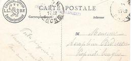 MILITARIA - Cachet Linéaire HOP.DEP De CONVALESCENTS  LYON 1915 Sur Carte Exposition Horticole 1914 à Lyon - Postmark Collection (Covers)