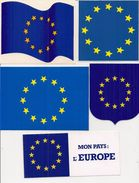 Autocollant   -  Lot De 5  -    L'  EUROPE   Mon Pays - Autocollants