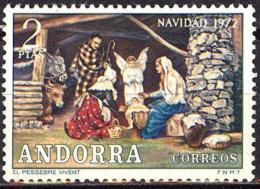 Andorra. 1972 (**) Mi 83. Navidad. Christmas. Weihnachten. Noël. Natale - Nuevos