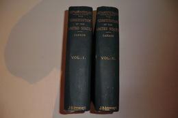 100 ème ANNIVERSAIRE CONTITUTION ETATS UNIS. 2 Volumes. J.B LIPPINCOTT.  TBE. 478 + 516 Pages. - Histoire