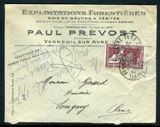 France - Enveloppe Commerciale De Verneuil Sur Avre Pour Longny En 1925 - Ref N 268 - Marcophilie (Lettres)