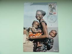 CARTE MAXIMUM CARD FEMME AFRICAINE AVEC SON ENFANT DAHOMEY - Sonstige - Afrika