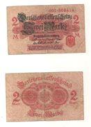 1 Gebrauchte Banknote Laut Abbildung 2 Mark 12.8.1914 Rote Serie - 1871-1918: Deutsches Kaiserreich