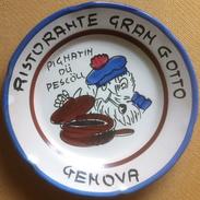 Piatto Buon Ricordo - Genova Gran Gotto Pignatin Du Pescöu - M78 Presentazione? - Oggetti 'Ricordo Di'