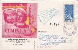 CAPSULA GEMINI 4. AVEC AUTRES MARQUES. 1965. MEILLEUR COLLECTION VOZNESENSKI - BLEUP - Storia Postale