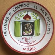 Piatto Buon Ricordo - Milano - Edgardo Montalcino - Vitello Dei Longobardi - M78 - Oggetti 'Ricordo Di'