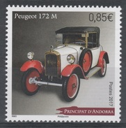 Andorra (French Adm.), Old Car, Peugeot 172 M, 2017, MNH VF - French Andorra