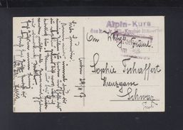 KuK AK Bludenz Feldpost Alpin-Kurs Mil. Komm. Innsbruck 1917 - Lettres & Documents