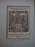Suisse - Ex-libris Héraldique XVIIème Retirage XIXème ? - Bâle - Wilhelm Ringg Von Baldenstein - Ex Libris