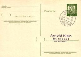 Ganzsache, 10 Pf Bedeutende Deutsche, Mit Poststempel Brotdorf / Merzig (Saarland) - [7] République Fédérale