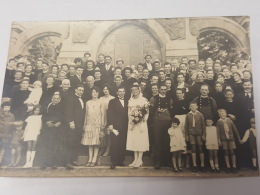 CARTE PHOTO Ancienne GROUPE ADULTES PHOTO DE NOCE CPA Animee Postcard - To Identify