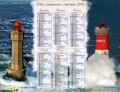 Calendrier Almanach La Poste PTT 2012 LES PHARES - Calendriers