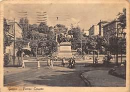 Cartolina Genova Piazza Corvetto Animata 1942 - Genova (Genoa)