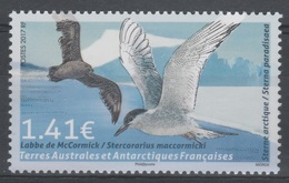 French Antarctic (FSAT), Bird, South Polar Skua, 1.41€, 2017, MNH VF - Unused Stamps