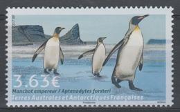 French Antarctic (FSAT), Bird, Emperor Penguin, 3,63€, 2017, MNH VF - Unused Stamps