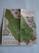 DALÉCARLIE - SVERIGE, SWEDEN, DALARNA, DALECARLIA, 1949. B/W PHOTOS. - Toeristische Brochures