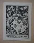 Ex-libris Début XXème - Henry C. Mc LEAN - Ex-libris