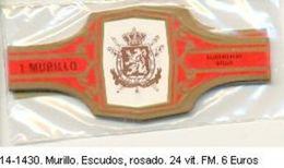 Vitolas Murillo. Escudos, Rosado. Ref. 14-1430 - Vitolas (Anillas De Puros)