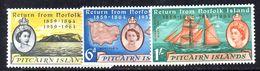 XP3662 - PITCAIRN 1961 , Yvert N. 32/34   *** - Pitcairn