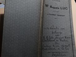 Acte D'échange Le 20/11/1919 En L'étude De Me Auguste Luc à Chimay Entre Mr Coulonval Et Baudart De Baileux. - Manuscripts