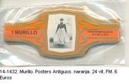 Vitolas Murillo. Posters Antiguos, Naranja. Ref. 14-1432 - Vitolas (Anillas De Puros)
