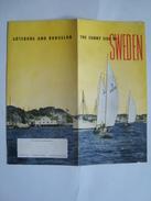 THE SUNNY SIDE OF SWEDEN. GÖTEBORG AND BOHUSLÄN - SVERIGE, 1949. BOHUSLÄN MAP INSIDE. COLOUR & B/W PHOTOS. - Toeristische Brochures
