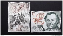 Spanien 2412/3 Oo/used, EUROPA/CEPT 1979, Geschichte Des Post- Und Fernmeldewesens - 1931-Heute: 2. Rep. - ... Juan Carlos I