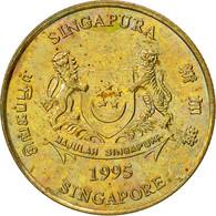 Singapour, 5 Cents, 1995, Singapore Mint, TTB, Aluminum-Bronze, KM:99 - Singapour