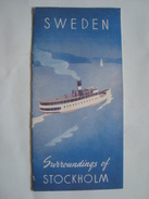 SWEDEN. SURROUNDINGS OF STOCKHOLM - SVERIGE, 1949. 16 PAGES. B/W PHOTOS. - Tourism Brochures