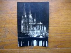 Köln , Am Rhein , Dom , Südseite In Der Festbeleuchtung - Köln