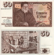 ICELAND  50 Kronur   P49    Dated  29.3.1961 - Islanda