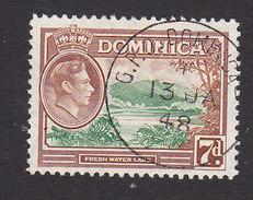 Dominica, Scott #105, Used, Scene Of Dominica, Issued 1938 - Dominica (...-1978)