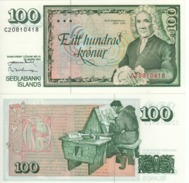 ICELAND  100 Kronur   P50    Dated  29.3.1961 - Islande