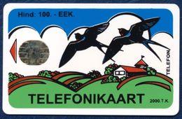 ESTONIA - ESTLAND - ESTONIE 50 EEK CHIP PHONECARD TELEPHONE CARD FAUNA BIRD SWALLOW SWALLOWS - Estonia
