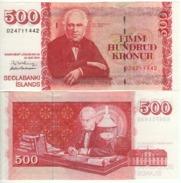 ICELAND  500 Kronur   P58    Dated  22.5.2001 - Islande