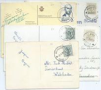 5 Fantasiekaarten Met Sterstempels    WALSHOUTEM(2x) , EMBLEM , OORDEREN , ERE , - Poststempels/ Marcofilie