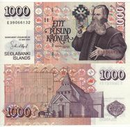 ICELAND  1'000 Kronur   P59b    Dated  22.5.2001   1 Sign. - Islande