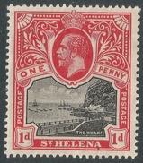 St Helena. 1913-26 KGV. 1d MH. SG 73 - Saint Helena Island